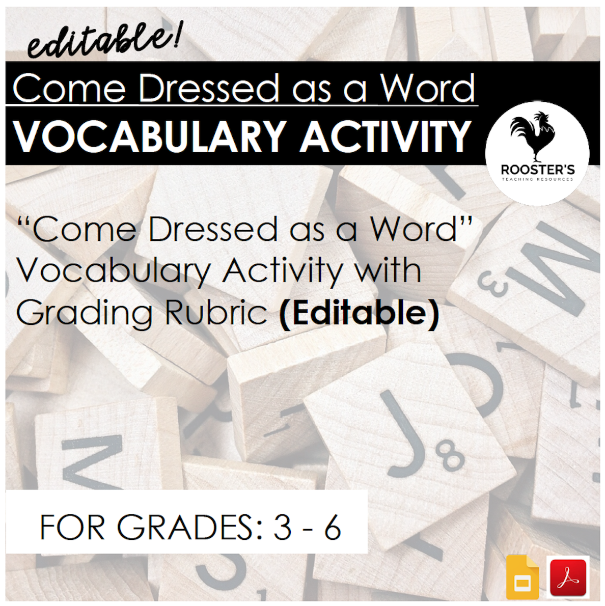 educational costumes vocabulary activity