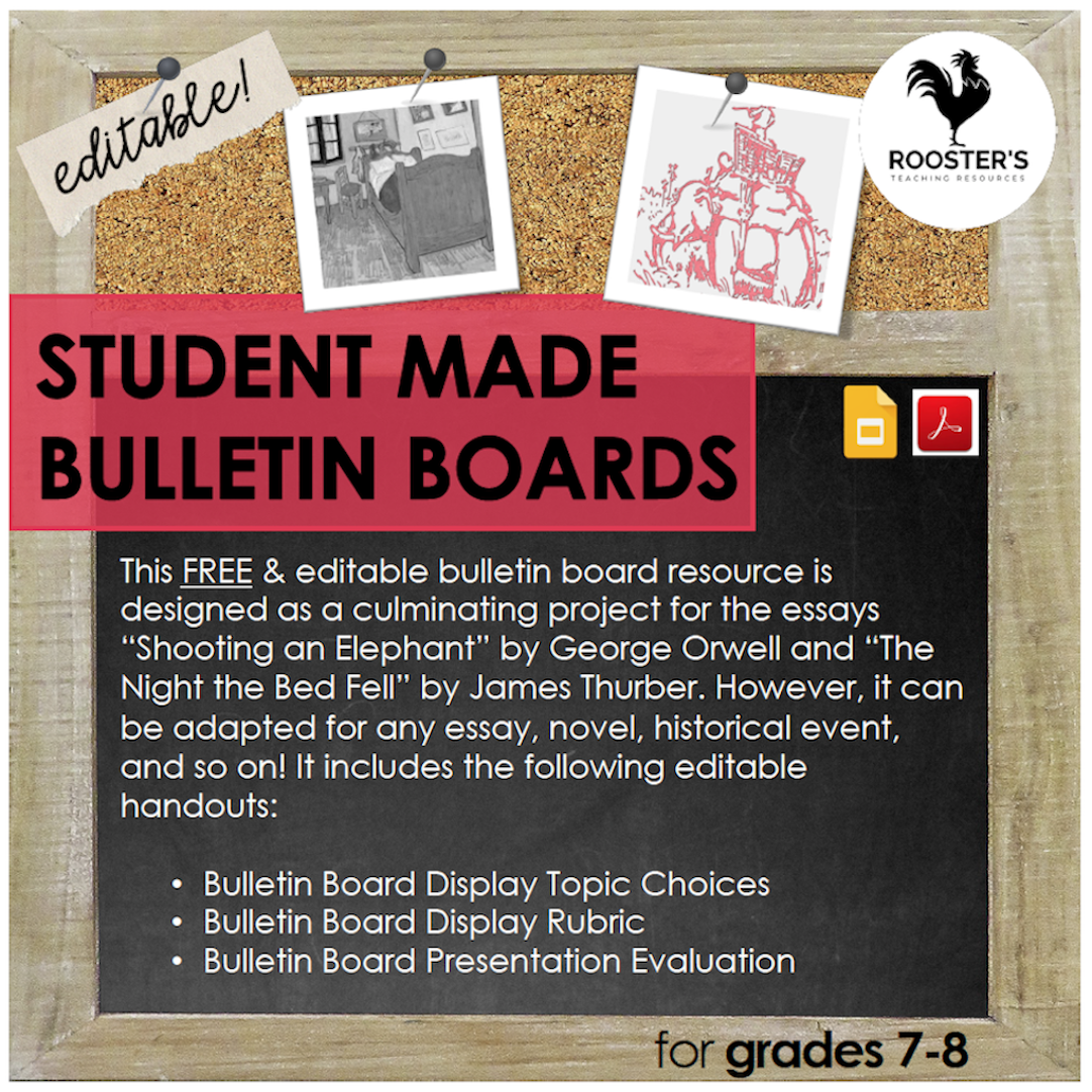 student made bulletin boards resource