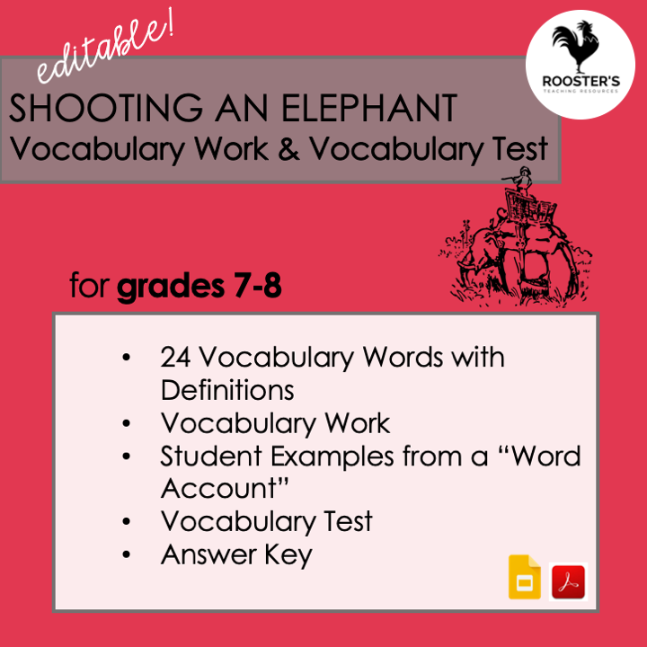 why read the classics vocabulary shooting an elephant