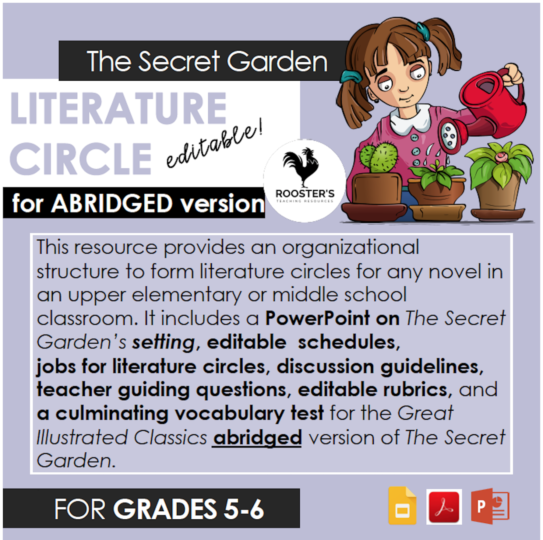 literature circle the secret garden abridged