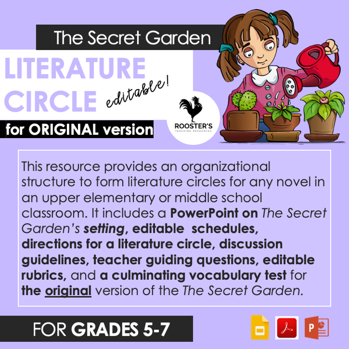 literature circle the secret garden original version